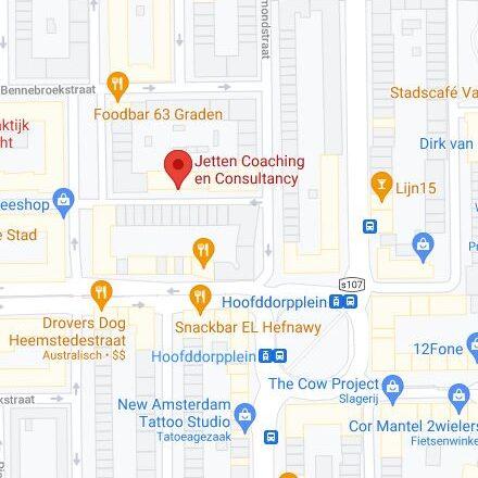 Plattegrond Jetten Coaching Amsterdam